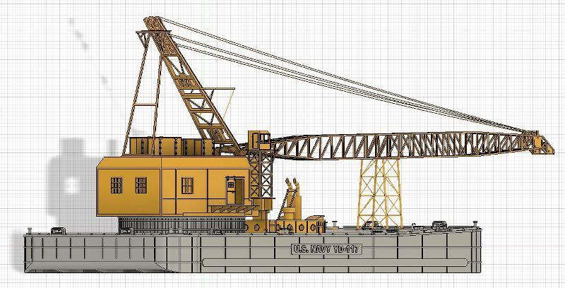 Grues sur barges & remorqueur (Impression 3D 1/350°) de NOVA73 M9DSIS