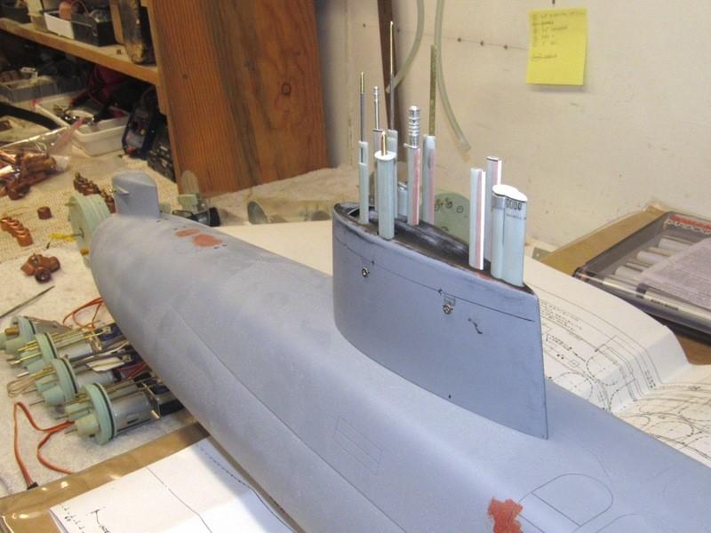 Assembling the excellent Scale Shipyards 1/96 SSBN, USS Daniel Webster Wau2U5
