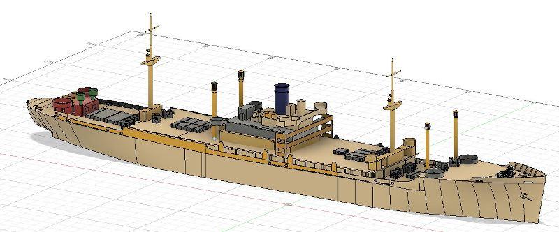 USS CAGE APA-168 au 1/350 - Page 2 LQV4Nt