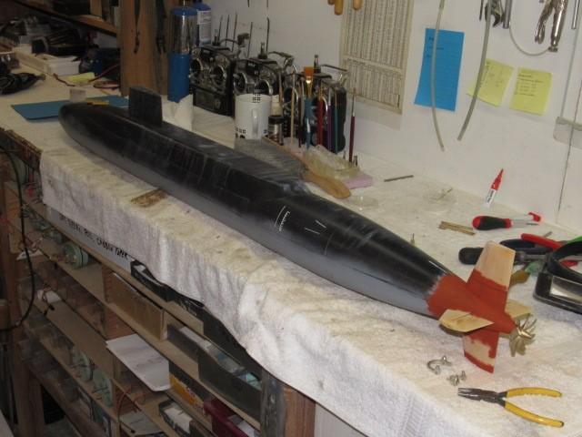 Assembling the excellent Scale Shipyards 1/96 SSBN, USS Daniel Webster ONRPzv
