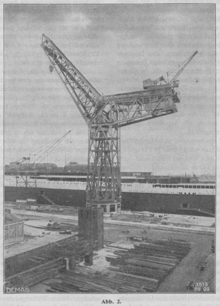 Grande grue 250 t port de Hambourg et Bismarck Revell au 1/350 UL0Bbk