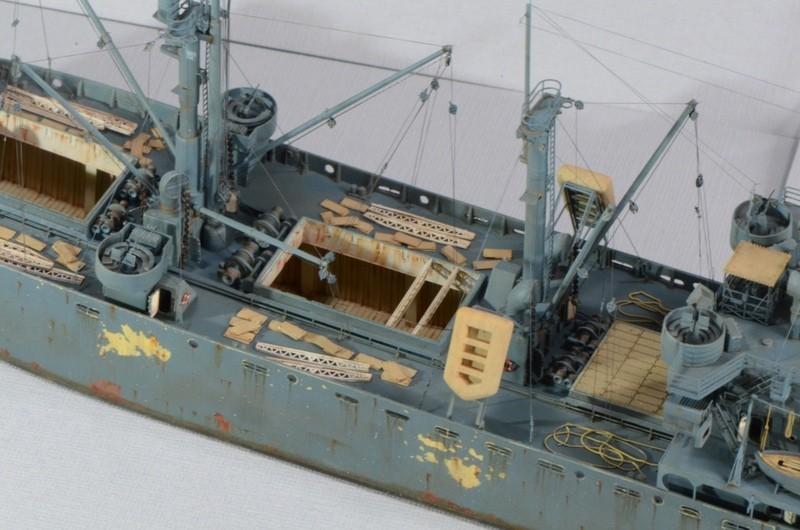 Diorama Port Mulberry A Omaha Beach 16 Juin 1944 au 1/350 - Scratch sur base Iron Shipwrights, Trumpeter et l'Arsenal 3PACaN