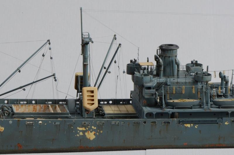 Diorama Port Mulberry A Omaha Beach 16 Juin 1944 au 1/350 - Scratch sur base Iron Shipwrights, Trumpeter et l'Arsenal 4DMXzm