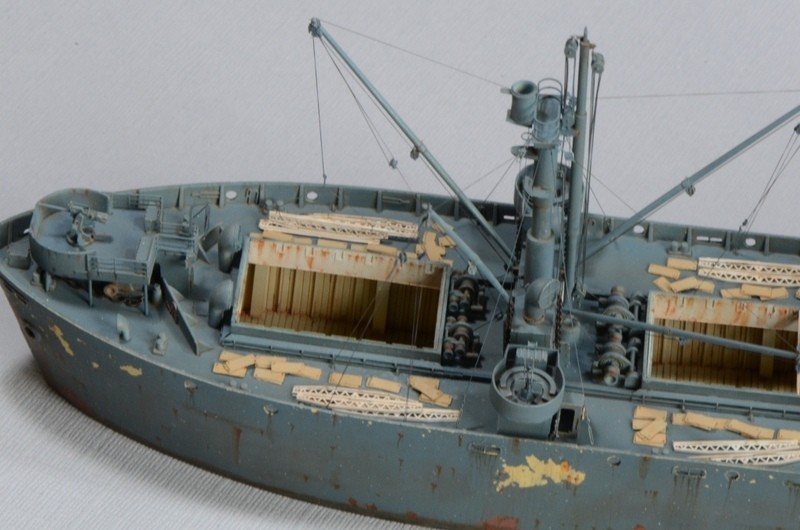 Diorama Port Mulberry A Omaha Beach 16 Juin 1944 au 1/350 - Scratch sur base Iron Shipwrights, Trumpeter et l'Arsenal CfOwIc