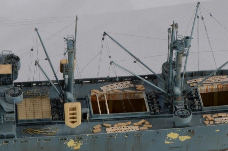 Diorama Port Mulberry A Omaha Beach 16 Juin 1944 au 1/350 - Scratch sur base Iron Shipwrights, Trumpeter et l'Arsenal DvGlTI