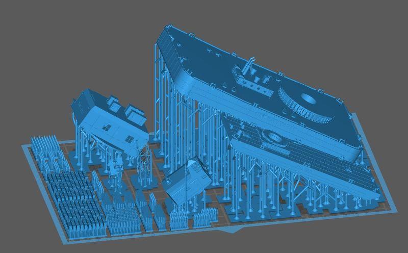Grues sur barges & remorqueur (Impression 3D 1/350°) de NOVA73 DjMDmD