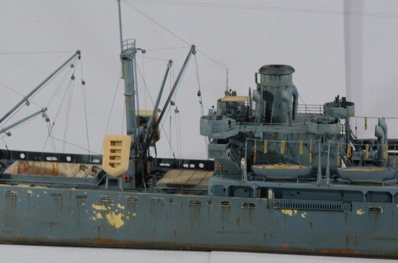 Diorama Port Mulberry A Omaha Beach 16 Juin 1944 au 1/350 - Scratch sur base Iron Shipwrights, Trumpeter et l'Arsenal KekDLx
