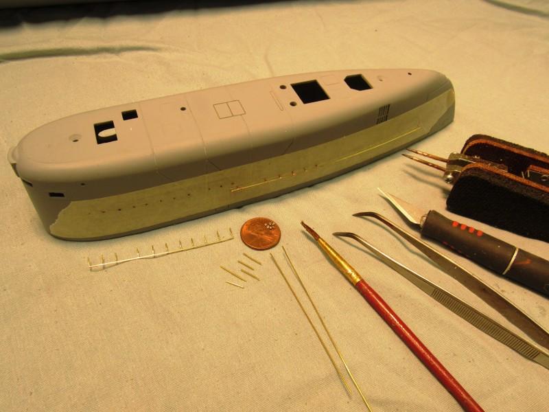 resistive soldering of hand-rails Ook6PB