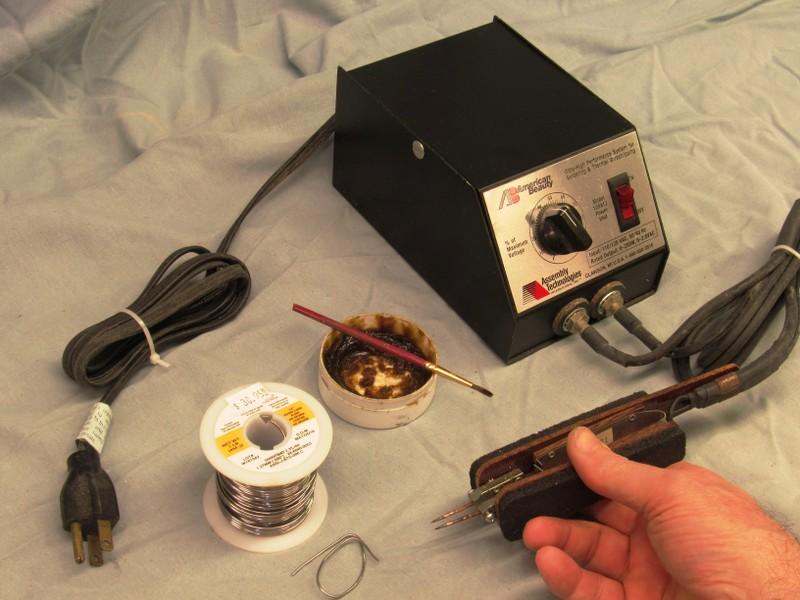resistive soldering of hand-rails Rb9ef8