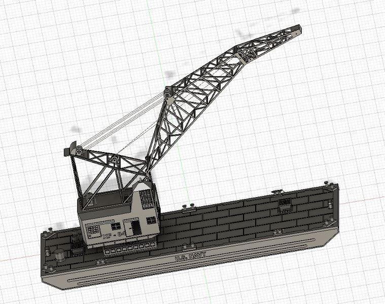 Grues sur barges & remorqueur (Impression 3D 1/350°) de NOVA73 ZJRwai