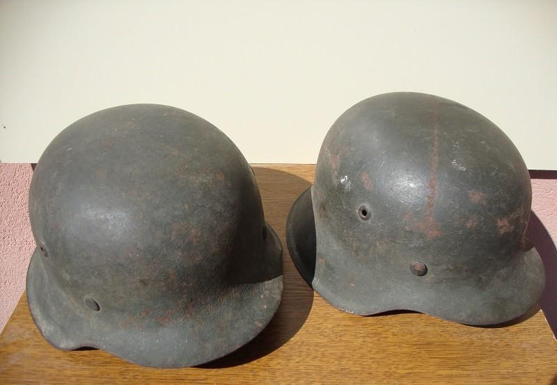 2 casques allemand m42 sorti dans la même maison  17f817