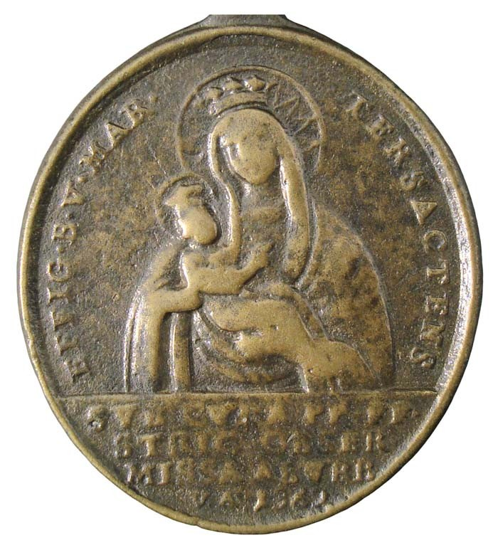 Medalla Virgen de Trsat / Virgen de Loreto - MR(438) (R.M. SXVIII-O270) 47xE8S