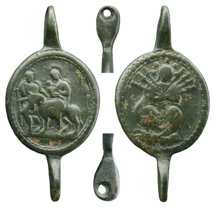 Intermedia de coronilla servita s.XVIII Huida a Egipto GqaRpx