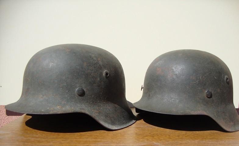 2 casques allemand m42 sorti dans la même maison  0bc5e4
