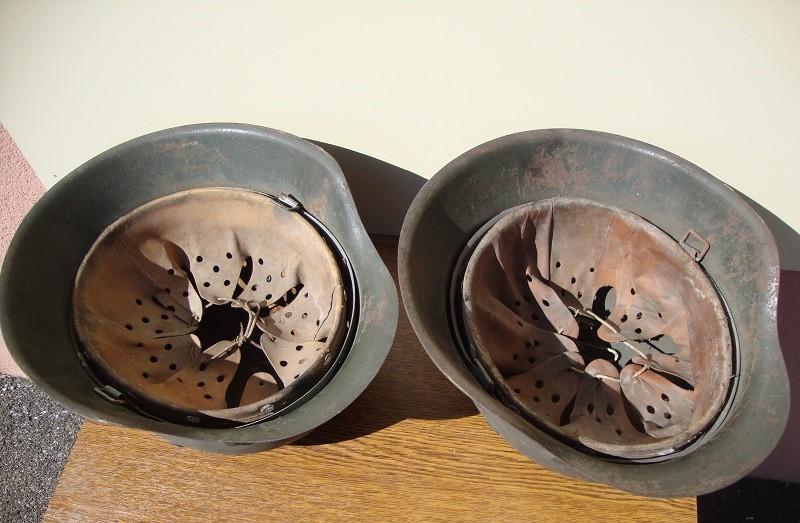 2 casques allemand m42 sorti dans la même maison  0c2212
