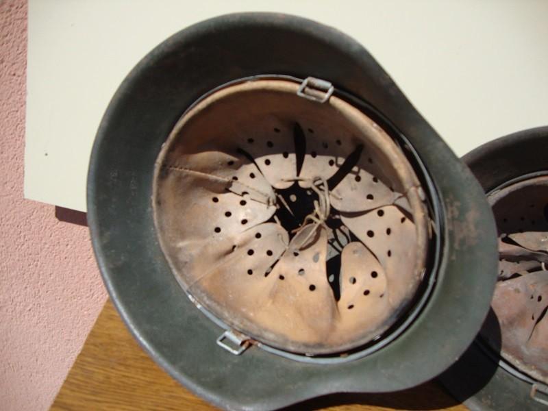 2 casques allemand m42 sorti dans la même maison  8bdccc
