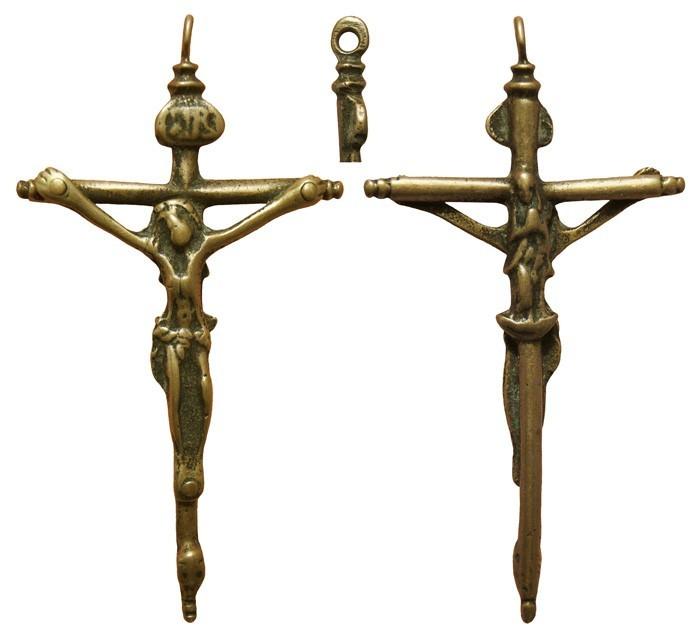 Crucifijo  cilíndrico  bifaz Inmaculada .  S.XVII , CC-002- [Pec011/S-XVII]* OGfkyj