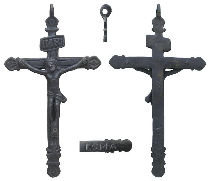 Crucifijo  de Peregrino año Jubilar ROMA S-XVII- CC-031 - [Pec016/S-XVII]* WLQG1B