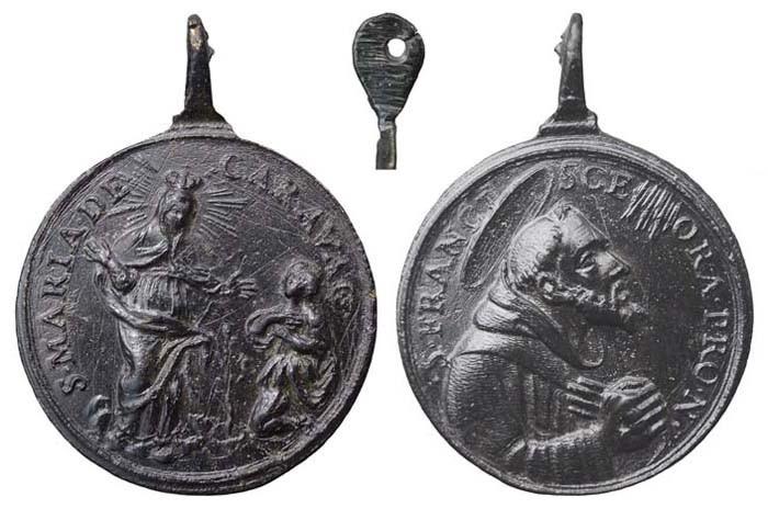 Sta Maria de Caravaggio / S. Francisco de Asís - (RM. S. XVII-C61) MR(428) (MAM) XcZknH
