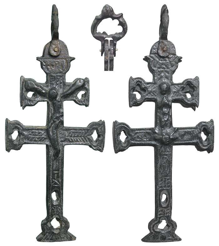 Cruz de Caravaca  con Inmaculada Concepción.  S-XVII - CC-078 - [ Pec037/S-XVII]* PwKsC2