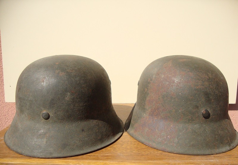 2 casques allemand m42 sorti dans la même maison  39ee61
