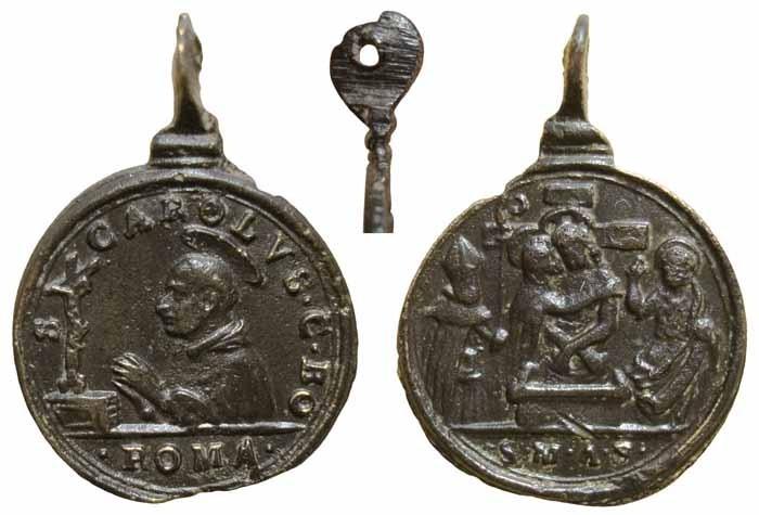 San Carlos Borromeo / Cristo de piedad  - MR(075) Mr075a