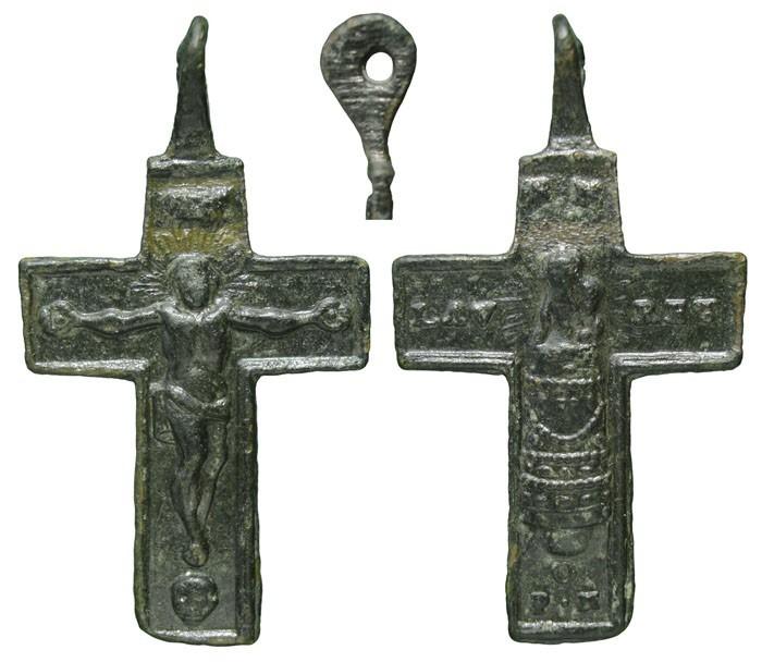 Crucifijo bifaz con S. Maria Lauretana, S-XVIII-  CC-001- [Pec026/S-XVIII] I5FUvG