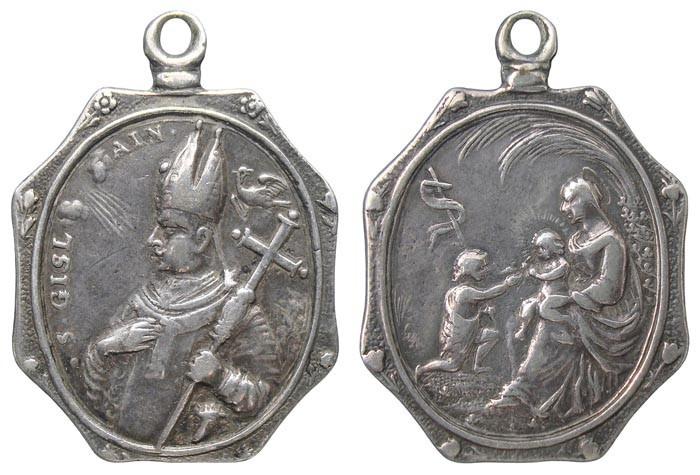 San Gisleno / Virgen con los Niños Jesús y Juan Bautista - MR(470)(R.M. SXVII-P113) OBaaFk
