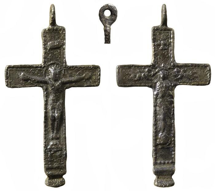 Crucifijo bifaz  Inmaculada, con pezuelo. S-XVIII- MR(038)-  CC-005- [Pec016/S-XVIII]* OSrMu8