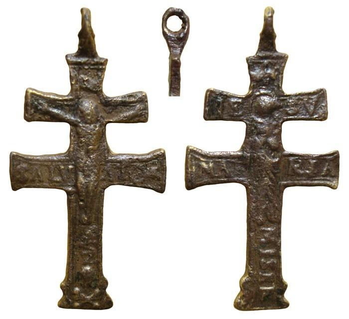 Cruz de Caravaca con Inmaculada , S-XVIII-  CC-014- [Pec017/S-XVIII]* EhsHmW