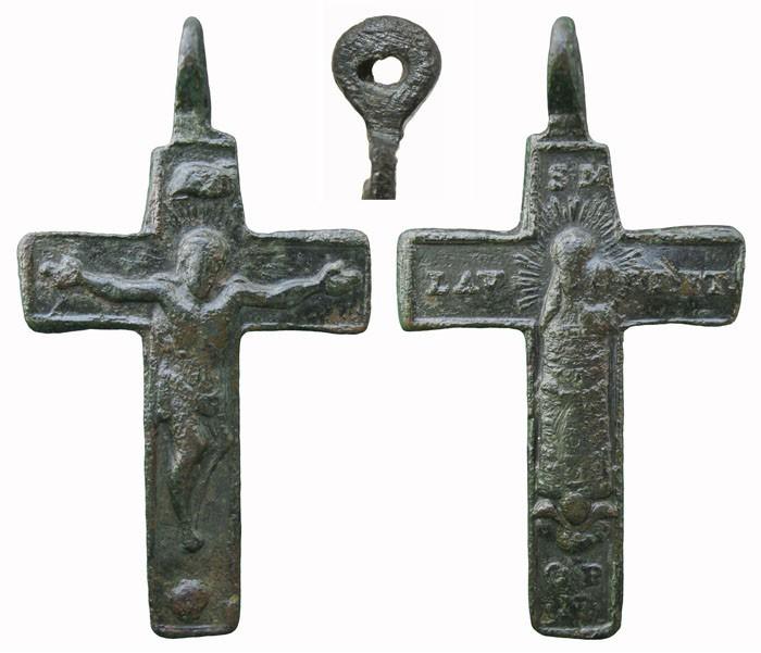 Cruz  bifaz  con Virgen Lauretana. S-XVIII - MR(026)-  CC-026- [ Pec020/S-XVIII]* Gdn7HZ
