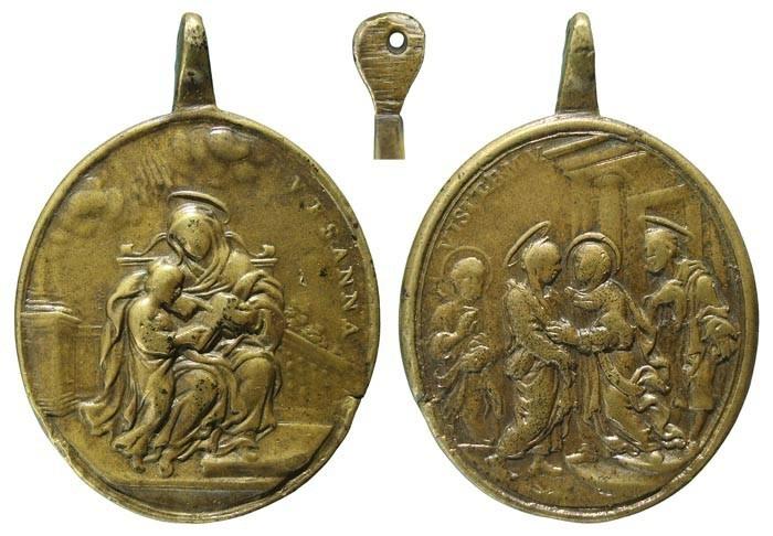 visitacion - Santa Ana y Virgen Niña / Visitación de Maria - MR483 (R.M. SXVIII-O296) JSde4q