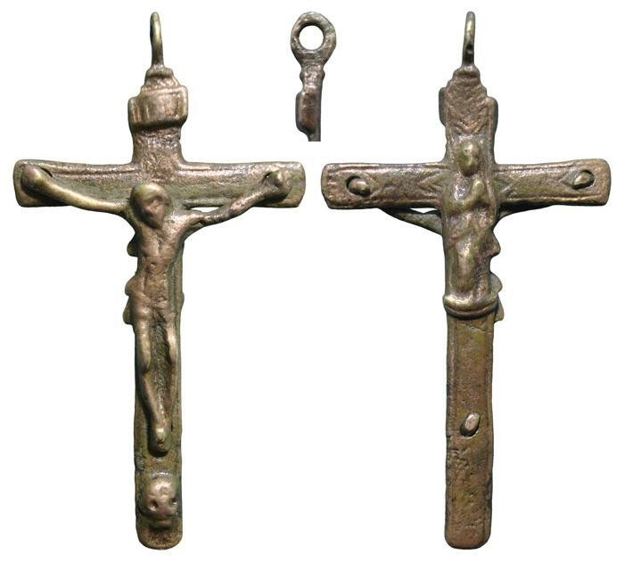 Crucifijo bifaz, Inmaculada- S-XVII-  CC-017- [Pec047/S-XVII]* M0ecuZ
