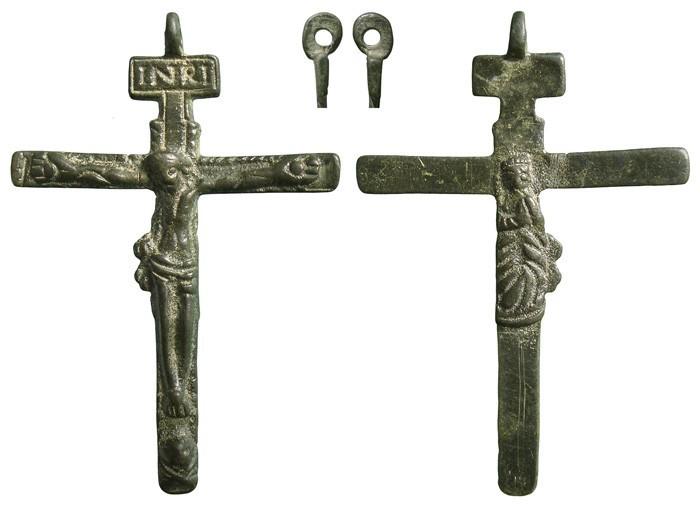 Crucifijo bifaz pectoral  Inmaculada. S-XVII- CC072 - [Pec043/S-XVII]* RKWr1M