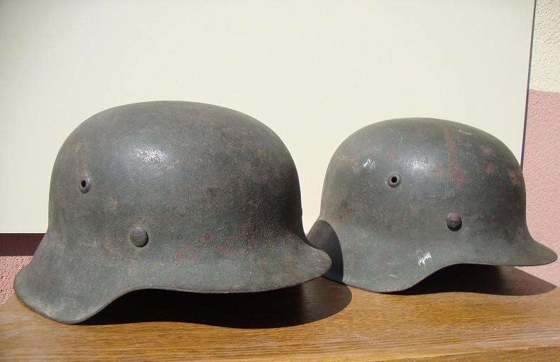 2 casques allemand m42 sorti dans la même maison  D4224f