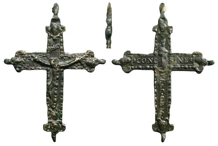 Crucifijo bifaz com pezuelos Inmaculada- S-XVII-  CC-019-[Pec045/S-XVII]* 5fYwOv