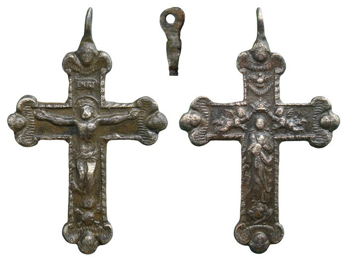 Crucifijo bifaz con querubines, Inmaculada- S-XVII-- CC-071- [Pec046/S-XVII)]* PCg4e4