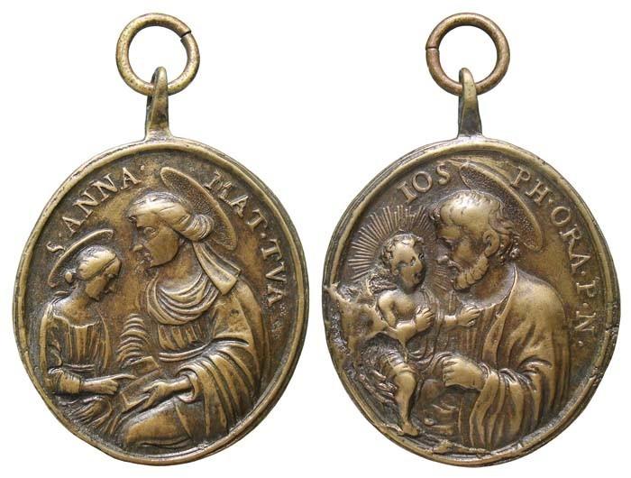 Medalla Santa Anna y Virgen Niña / San José - MR(445) (R.M. SXVIII-O265) 6VZ4eT
