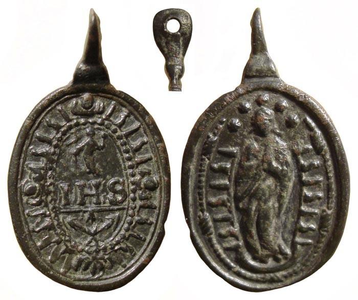 Inmaculada Concepción / IHS Sacra Nomina – MR(060)(R.M. SXVII-O268)  Rcdogg