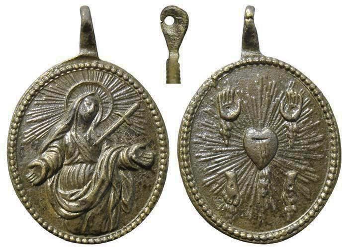 Las cinco llagas de Jesucristo / Virgen Dolorosa - S. XVIII ( R.M. SXVIII-O8)  MR(164) IIObST