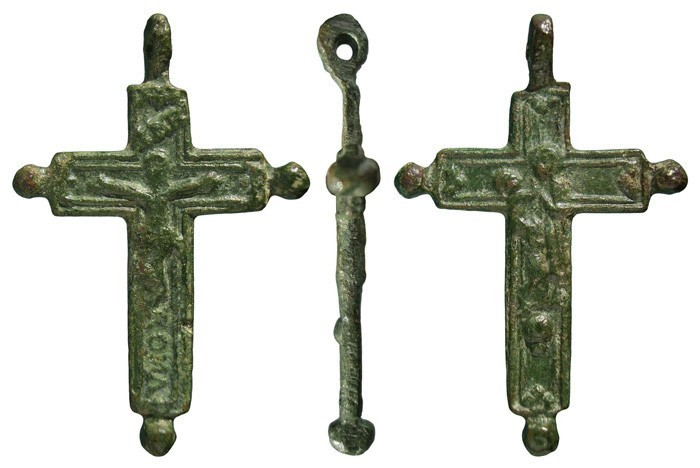 Crucifijo bifaz con pezuelos , Virgen con Niño- S-XVII- CC-091-[Pec048/S-XVII]*  5j2CTG