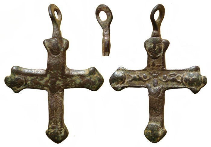 Crucifijo bifaz ,Inmaculada, S-XVII - MR(070) CC-012- [Pec049/S-XVII]* NU9riz