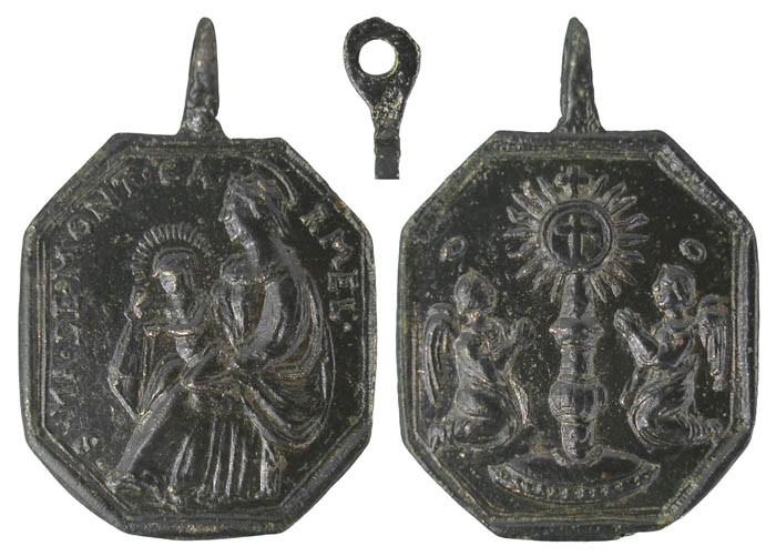 Virgen del Carmen / Stmo. Sacramento -  s. XVIII [MR(054)] IpeHcA