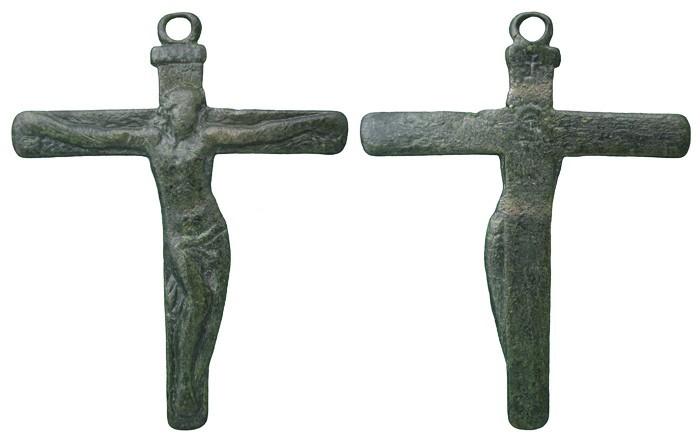 "Crucifijo pectoral con Cristo ""S"". S-XVIII- CC-035 - [Pec021/S-XVIII]* 13OklT"