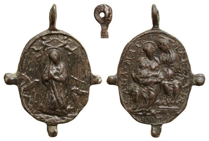 Sta. Catalina de Alejandría / Santa Ana Triple – MR(068), S. XVI-XVII 8Kdv2H