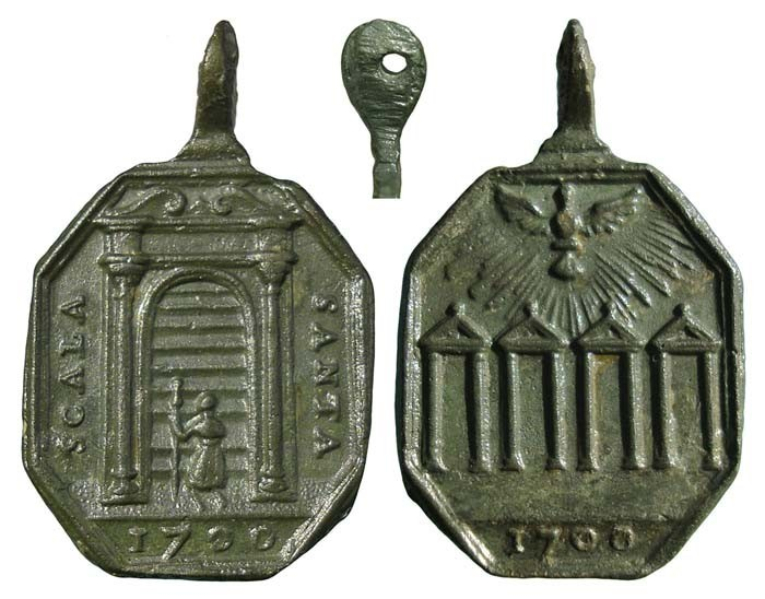 Cuatro Basílicas Mayores de Roma / Escalera Santa Jubileo de 1700 4VBSMt
