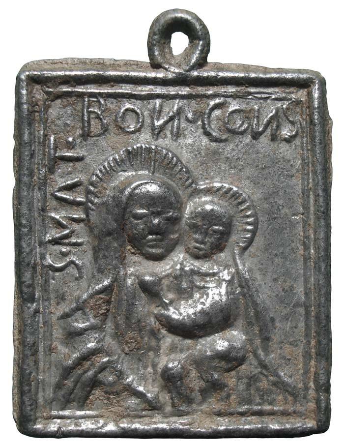 Virgen del Buen Consejo / Jesús crucificado - MR620 (R.M. SXVI-Ot8) BEclSm