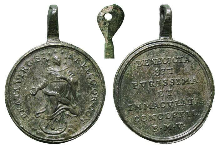 Medalla Inmaculada Concepción / Inscripción - MR(212)  D5MMES