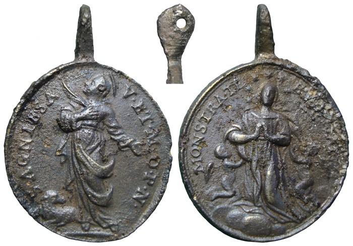 Santa Inés de Roma / Asunción de la Virgen - MR703 (R.M. SXVIII-O432) GxT6wA