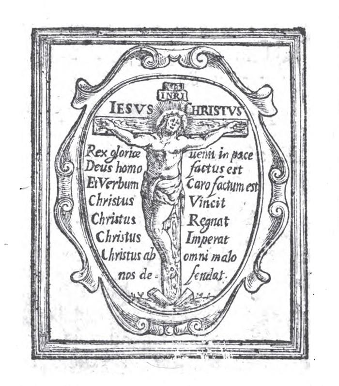 San Bruno de Colonia / Crucifixión con oración protectora (R.M. SXVIII-O451) B0MEJR